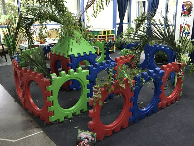 Taking advantage of the children's interest in enclosures in the Toddlers - bringing the outdoor equipment in!