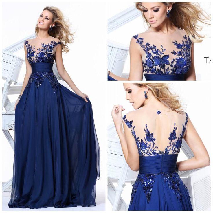 Синие платье с бисером
