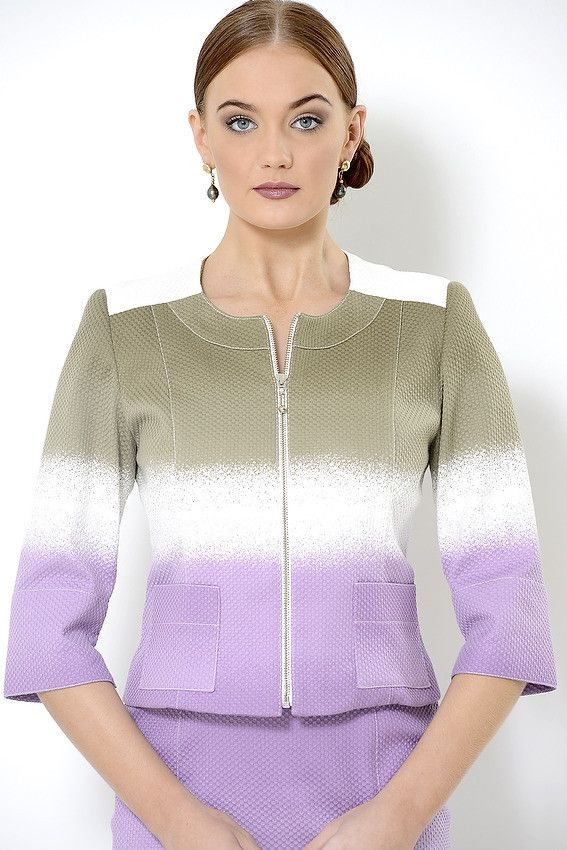 The cotton pique unlined 'Amy' jacket with front zipper is suitable for weddings, mother of the bride, summer racing fashion, cruising fashion, corporate events, Melbourne Cup, Pia du Pradal Park Road and Brisbane Arcade, Brisbane City, online boutique