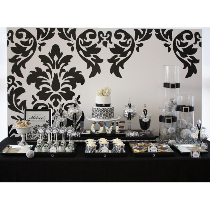 135 best Black and White Party Ideas images on Pinterest Candy