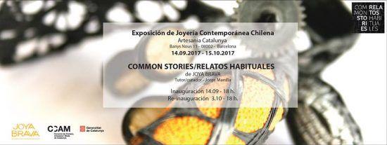 """Hasta el 15 de octubre, la ciudad de Barcelona albergará la exposición """"Relatos habituales"""", en la cual 20 joyeros chilenos muestran sus piezas"""