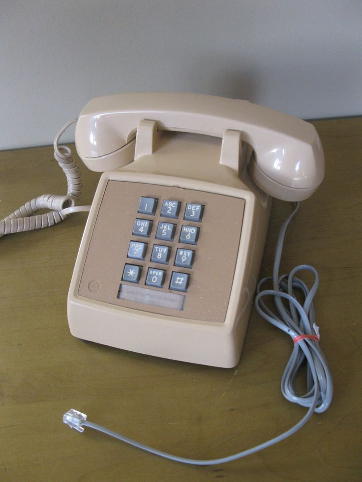 Vintage BEIGE desk phone -1970s/ 80s -working condition- Bell Systems -push button- touch tone- landline phone -office phone- photo prop by oakiesclaptrap on Etsy