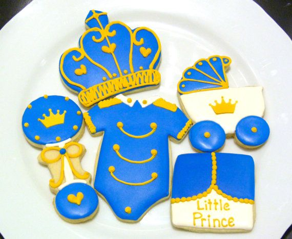 Custom Decorated Gourmet Little Prince Sugar por SweetRoseCookies