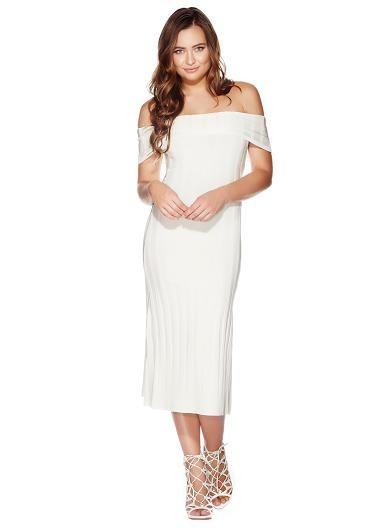 Women's Dresses Online   Off-The-Shoulder Bandage Dress   GUESS Australia