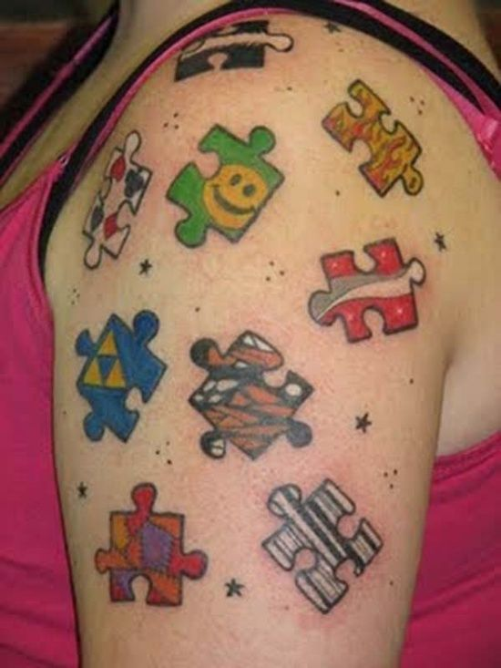 17 best images about puzzle tattoo designs on pinterest for Puzzle piece tattoo ideas
