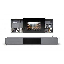 Smartbase - Modern iPhone or iPad Dock Ready Glass Entertainment Center - 2175.0000