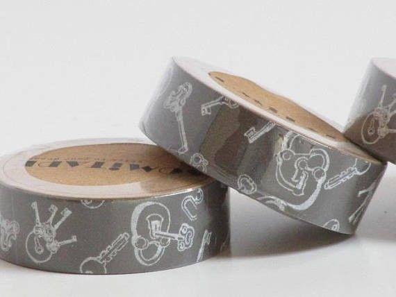 Masking tape, Rouleau adhésif, stickers, 4 modèles  - 6