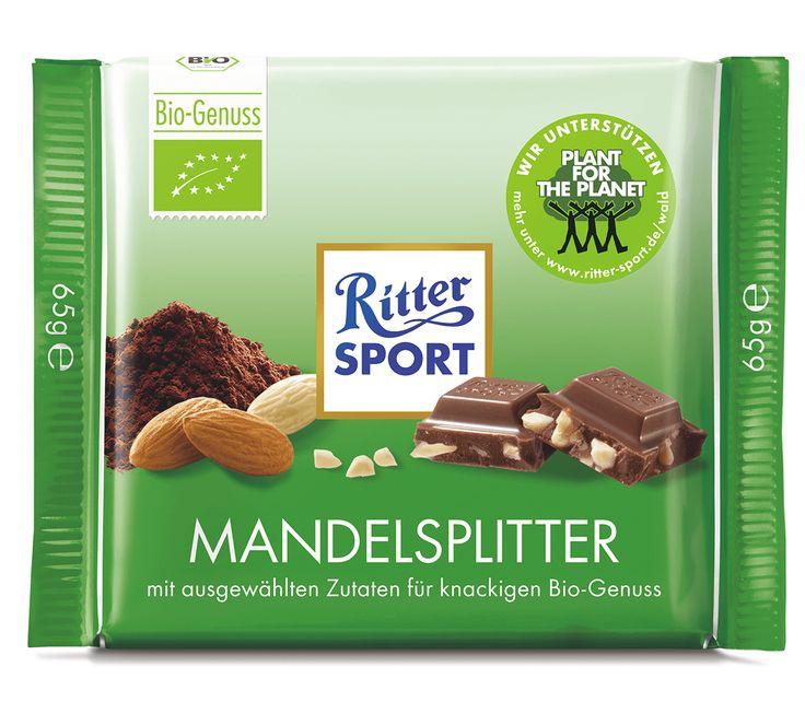 RITTER SPORT Bio Mandelsplitter Schokolade
