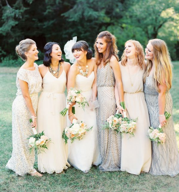 love these bridesmaid dresses,different styles and color is beautiful