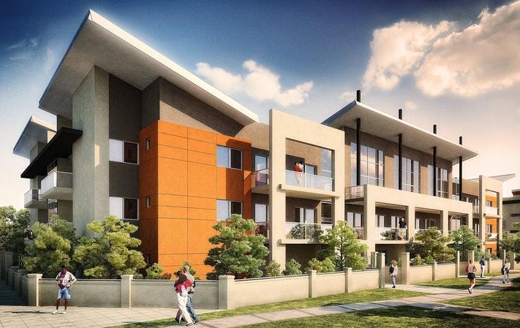 Apartment Design Exterior ellenbrook apartments, exterior (view 1)   3d portfolio   pinterest