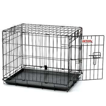 """Precision Pet """"ProValu"""" Single Door Dog Crate: Safe secure and affordable the collapsible ProValu is assembled and ready to set up. Folds flat to store and transport. Easy and secure door opera..."""