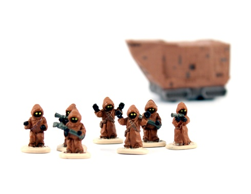 Star Wars stuff shouldn't be too hard, just try and find some of the Micro Machines Star Wars range on ebay.