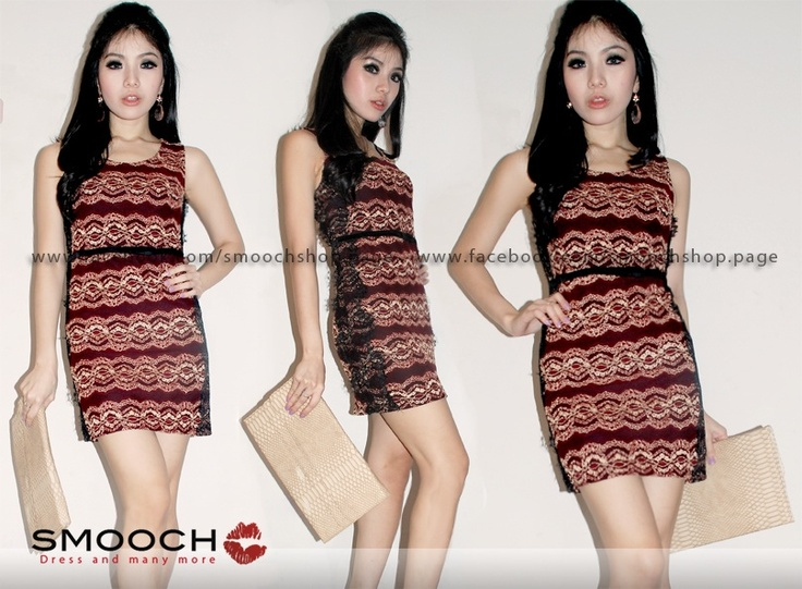 Keisya Dress Red For more info please kindly visit and likes our Facebook Page : www.facebook.com/Smoochshop.page 