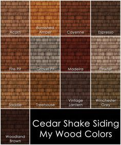 pre-stained cedar shingles mocha - Google Search