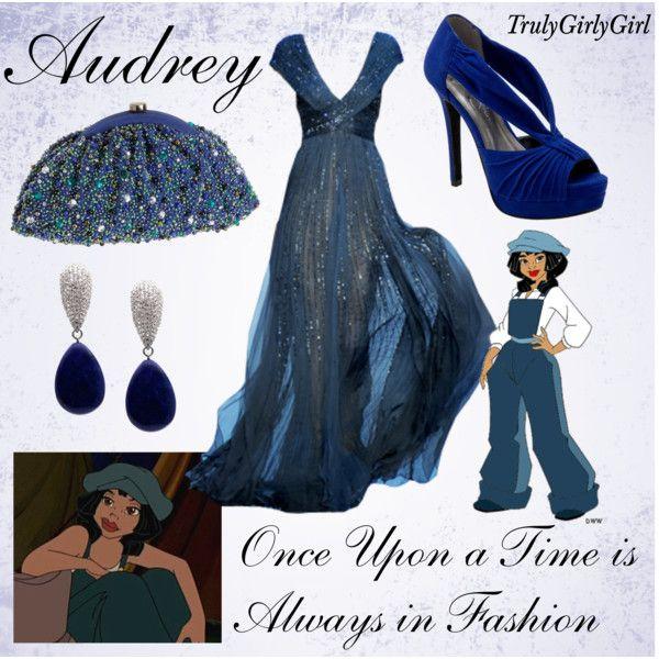 """""""Disney Style: Audrey"""" by trulygirlygirl on Polyvore.    No es una princesa pero si se inspiraron en ella esta lindo! ^^"""