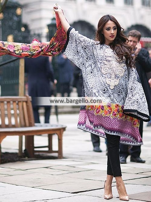 WL8307 Summer Collection Lawn Dresses Farah Talib Aziz Lawn Collection LSM 2015 - UK USA Canada Australia Saudi Arabia Bahrain Kuwait Norway Sweden New Zealand Austria Switzerland Germany Denmark France Ireland Mauritius and Netherlands