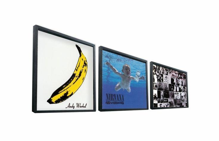 """12"""" Record Frame Black Vinyl Lp Album Cover Art Holder Display Records Gift"""