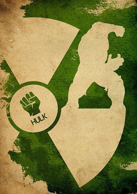 Avengers Hulk Minimalist Movie Poster by moonposter on Etsy