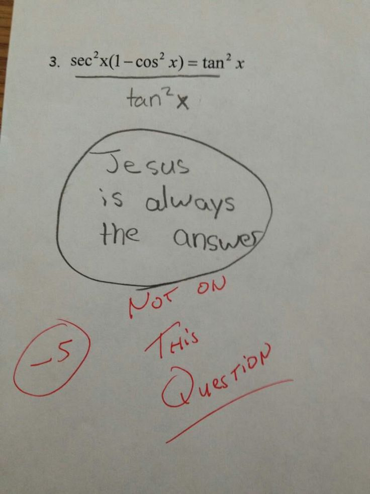Jesus is always the answer