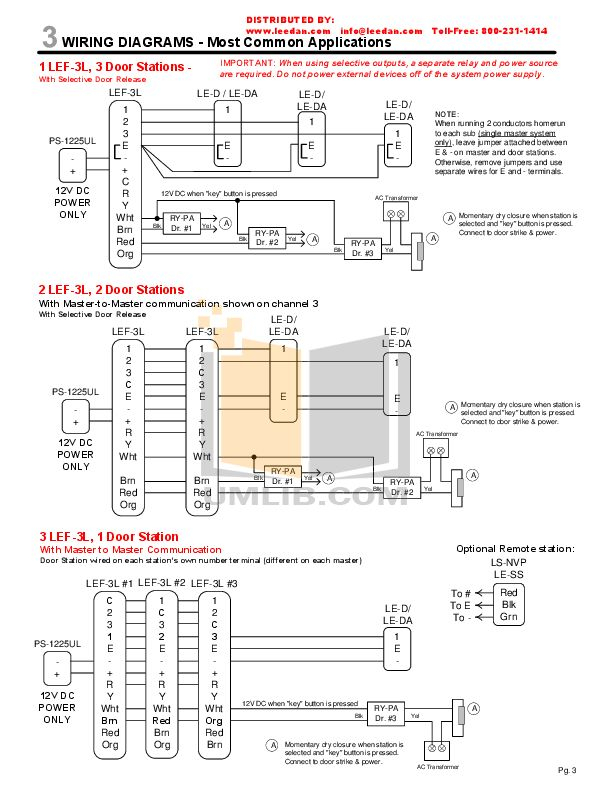 Aiphone Lef 3l Wiring Diagram, Intercom Wiring Diagram Pdf