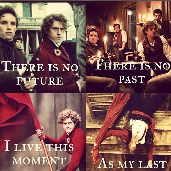 rent/les mis mash-up. Okay so I am not the only one who thinks of the boys when I hear that line in Rent... good.