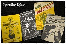 Vintage Music Festival Flyer/Poster