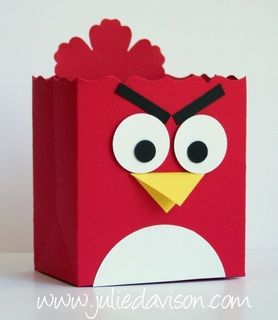 Julie's Stamping Spot - Angry Birds Fancy Favor Boxes: Party Favors, Birds Fancy, Kids Valentine Boxes, Valentine'S S, Valentine Card Boxes Idea, Projects Idea, Favors Boxes, Stampin Up Projects Valentine, Angry Birds
