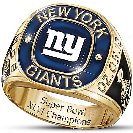 NFL New York Giants Super Bowl XLVI Champions Men's Ring
