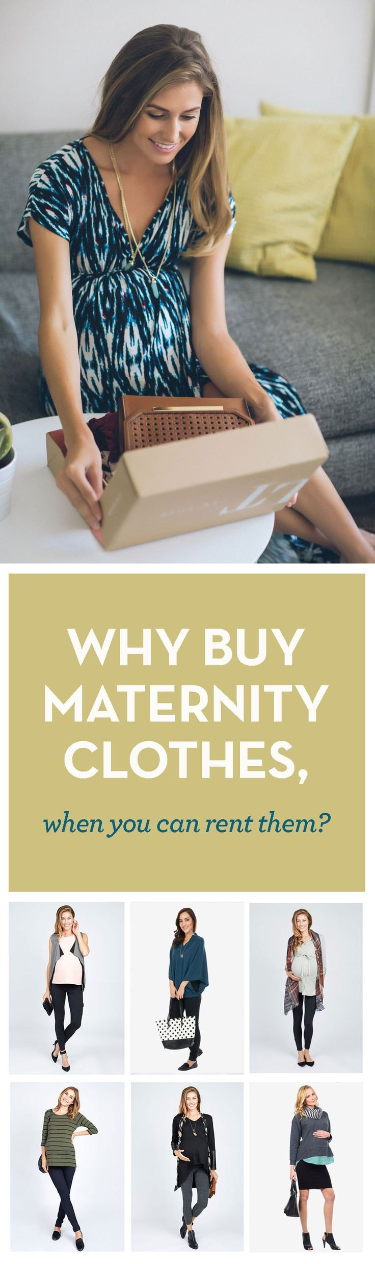 Check out this service from Le Tote that let's you borrow maternity clothes then swap them out when you want a change. Brilliant!