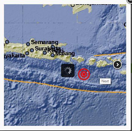 Gempa 5,2 SR Guncang Bali https://malangtoday.net/wp-content/uploads/2017/02/gempa-bumi-bali.png MALANGTODAY.NET – Gempa dengan kekuatan 5,2 Skala Richter (SR) mengcang Bali pada pukul 11.25 WIB. Kedalaman gempa berada 10 Kilometer di kedalaman laut. Badan Meteorologi, Klimatologi dan Geofisikadalam rilisnya menyatakan, gempa berada di 9.73 Lintang Selatan (LS) – 115.62 Bujur ... https://malangtoday.net/flash/nasional/gempa-52-sr-guncang-bali/