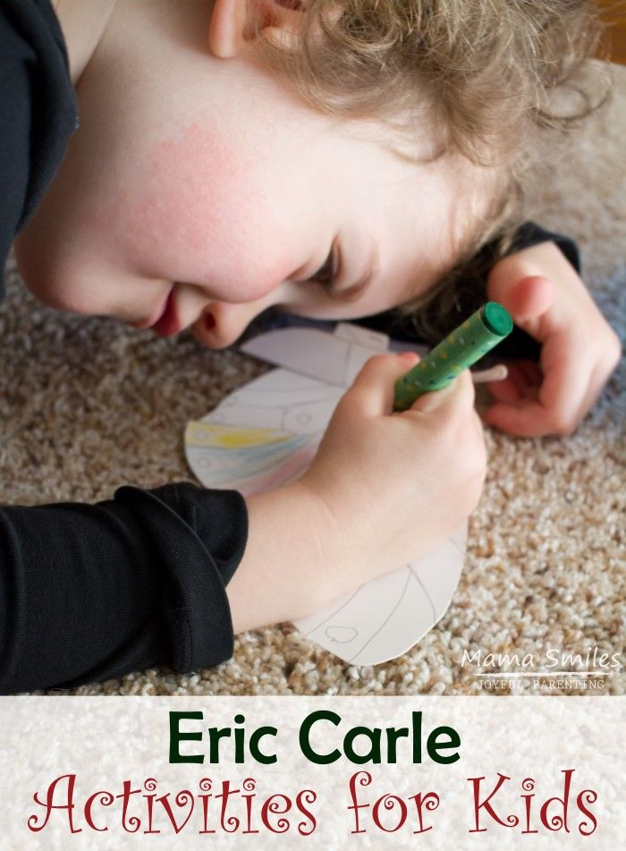 Delightful Eric Carle inspired crafts and activities for kids. Learn through play as you pair Eric Carle's books with these fun ideas. via @mamasmiles