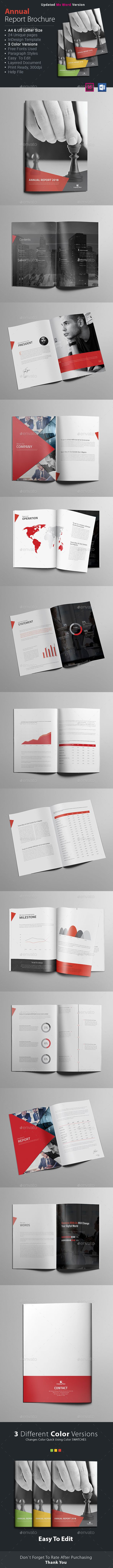 Annual Report Word Annual Report InDesign Template  Want to show your company's activities & financial performances throughout the year to your shareholders & interested people?  This 24 Page Professional and Corporate Annual Report Template is the best suitable for your company.