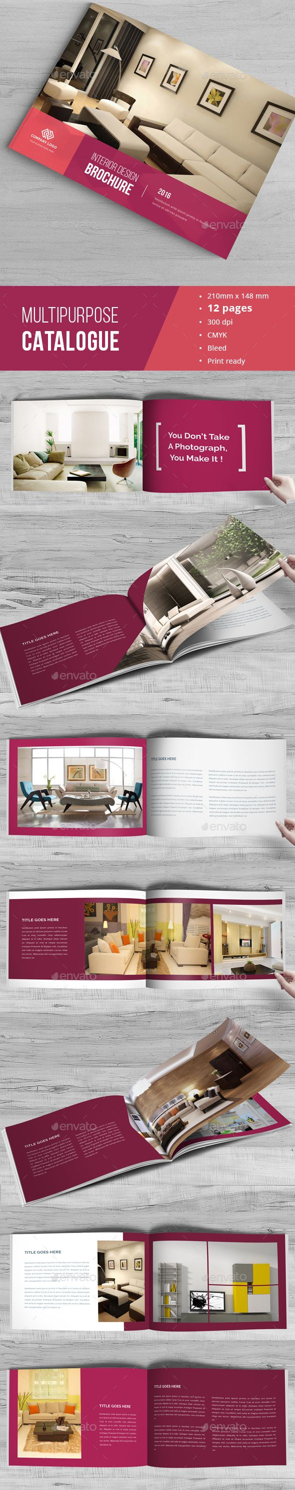 Portfolio InDesign Catalogue Template O Only Available Here Graphicriver