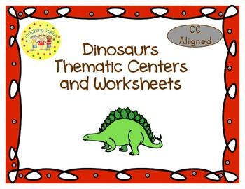 Dinosaurs Thematic Centers and Worksheets ***Common Core Aligned***  My Dinosaurs Packet contains:   Reading Center Book List Art Center Project Writing Center Activity Computer Center Websites Friday Activity  AND 9 worksheets  Circle the Beginning Letter (CCSS.ELA-Literacy.L.K.2c CCSS.ELA-Literacy.RF.1.2c CCSS.ELA-Literacy.L.2.2d CCSS.ELA-Literacy.L.1.2d CCSS.ELA-Literacy.L.1.2e)  Fill in the Missing ...