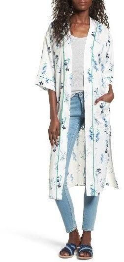 Women's Vigoss Floral Print Duster Kimono - Similar Kimono 1x04