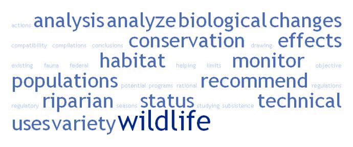 What are the main work and responsibilities of a Biologist?