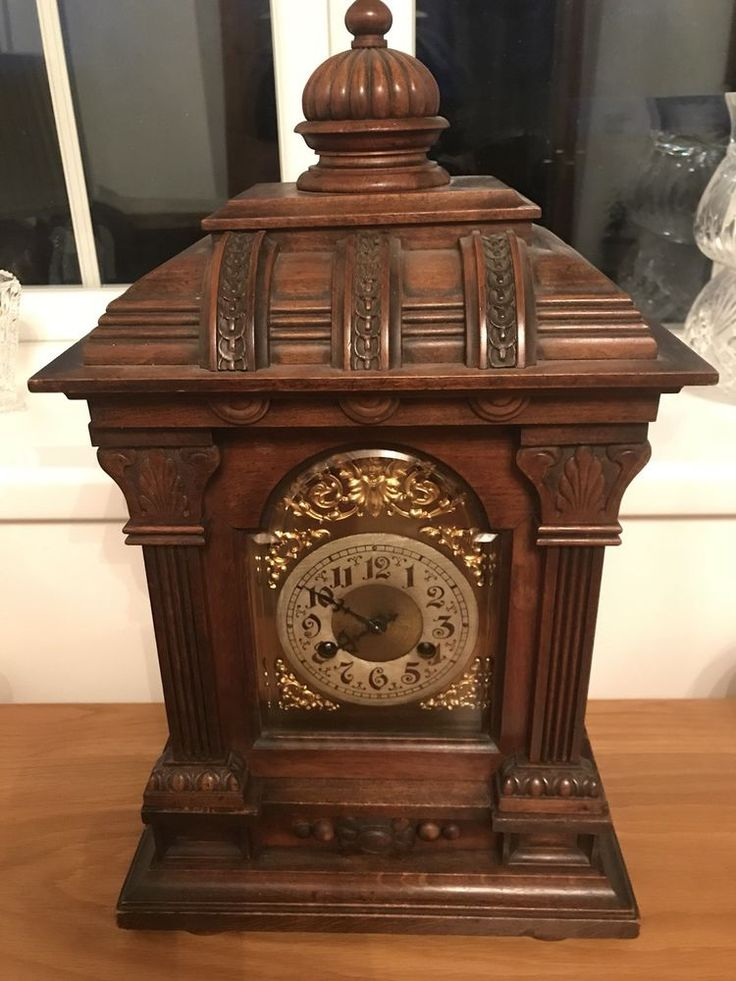 Antique Victorian Bracket chiming clock. Good Condition.  Price Negotiable.