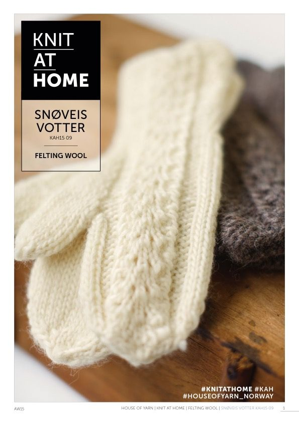 15-09 SNØVEIS VOTTER | free knitting pattern | knitted mittens | knitted lace | knitting pattern | strikkede vanter