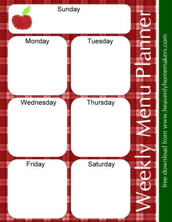 A Simple Way to Plan a Menu (and Free Downloadable Fall Menu Planners!)