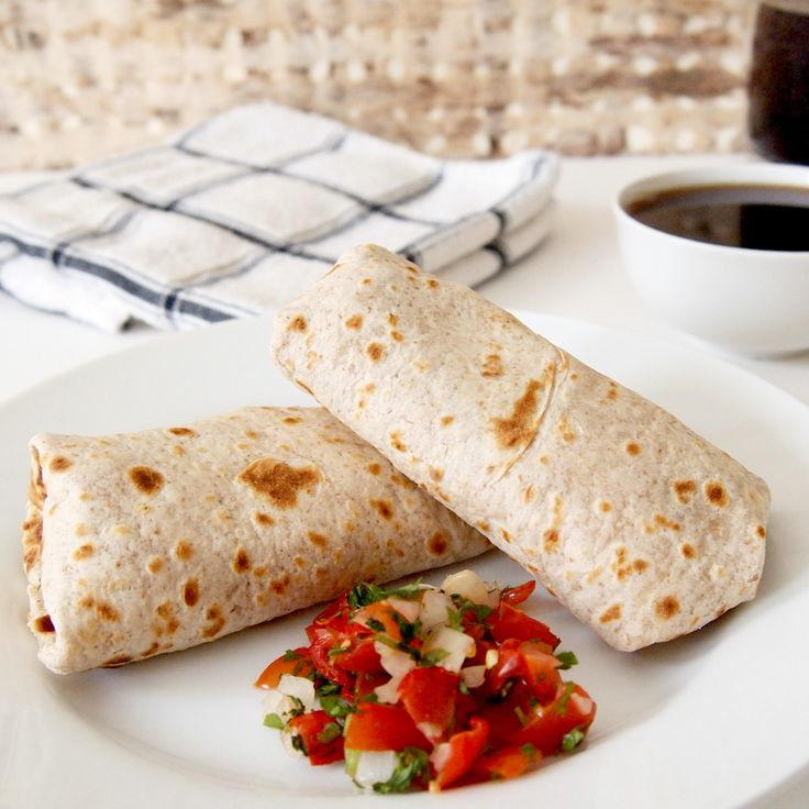 Bean and Egg Burritos- Make and Freeze for Fast Breakfasts. Only 5 Weight Watchers Points. Visit my blog for more healthy recipes www.hotspicyandskinny.com