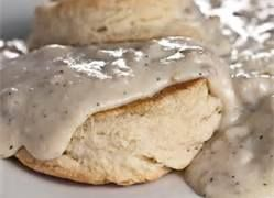 Healthy biscuits and gravy.  Low in sat. fat and calories, high in fiber.