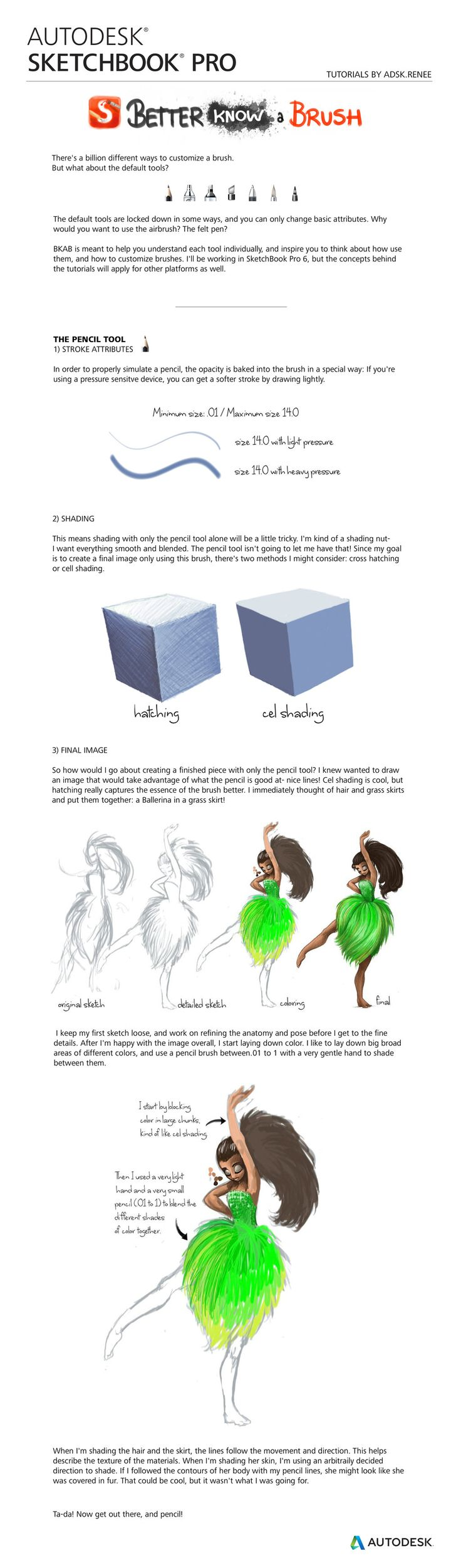 Autodesk SketchBook Pro :BKAB- the Pencil Tutorial by reneedicherri.dev… on @deviantART