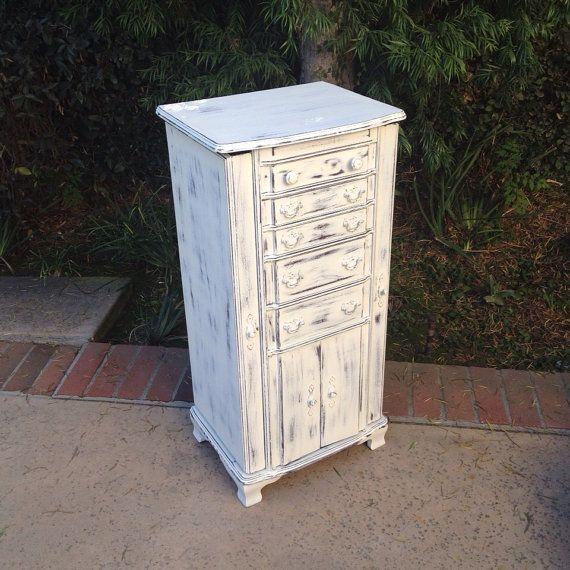 Large White Jewelry Box Floor Standing Jewelry By Shabbyshores, $325.00  Annie Sloan Https:/