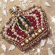 "Handmade Jewelry.  Fair Masters - handmade brooch ""Crown for Elizabeth.""  Handmade."