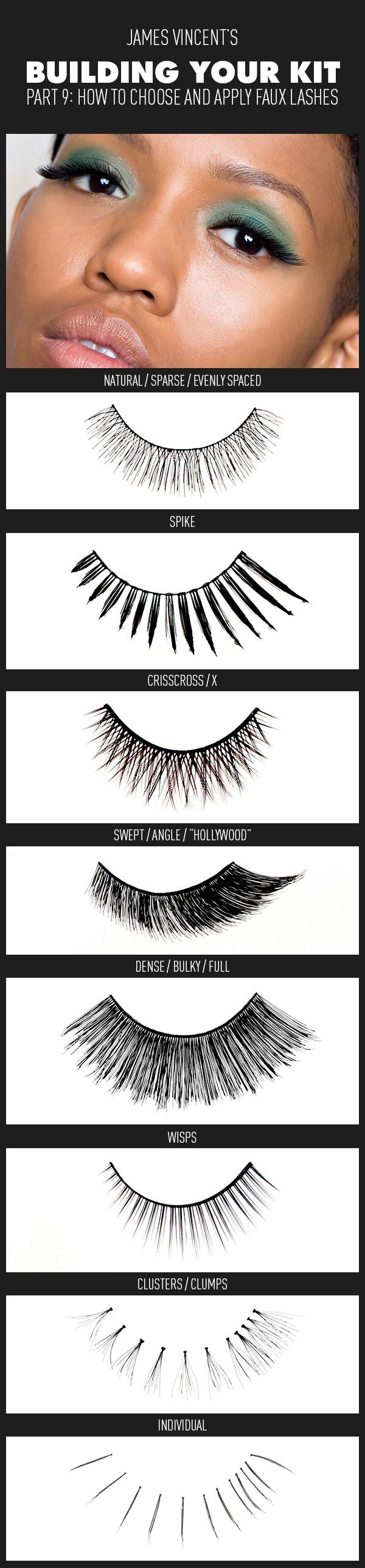 My latest piece is up on Beautylish. Check it out and let me know what you think. Building Your Kit Part 9: How to Choose and Apply Faux Lashes