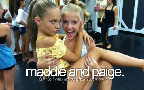 Little Things About Dance Moms they have such a sweet friendship! Chloe and Paige are the best twinned but fans should also acknowledge the strong friendship that Maddie and Paige have!
