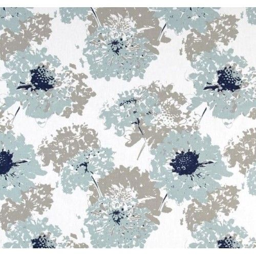 This fabric is a beautiful indoor home decor fabric featuring a floral design of full blooms, modern in style, fresh and a very summer feel.  Suitability includes:Soft furnishings - cushion covers and slip covers, curtains and window finishes, bedroom linen and manchester, table to