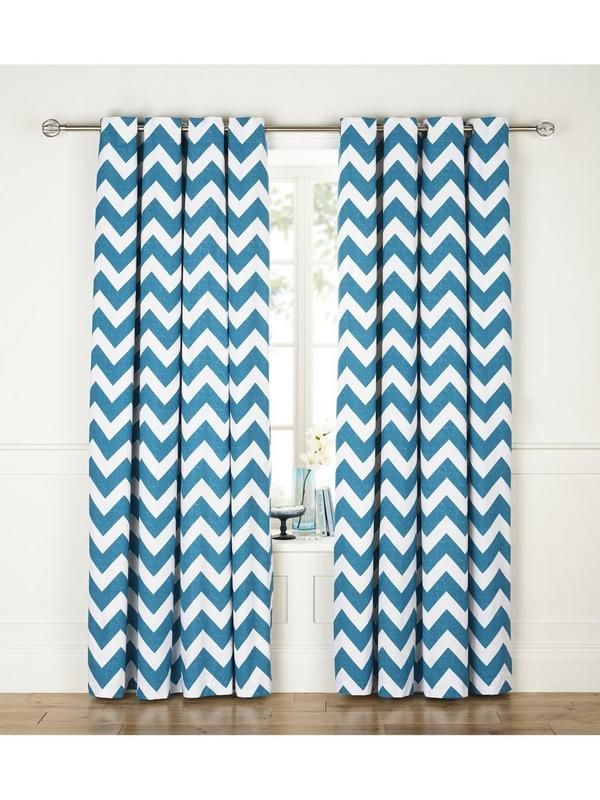 Chevron Printed Eyelet Curtains | Very.co.uk