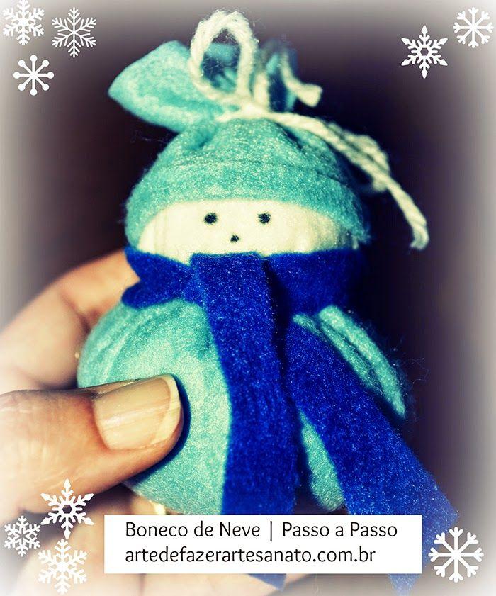 Aprenda a fazer esse boneco de neve para árvore de natal
