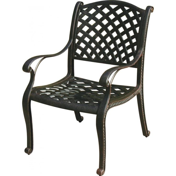 Antique Bronze Nassau Dining Chair Number Is From The Darlee Outdoor Living  Classic Line And Is Offered With Standard Sesame Fabric Or In One Or A ...
